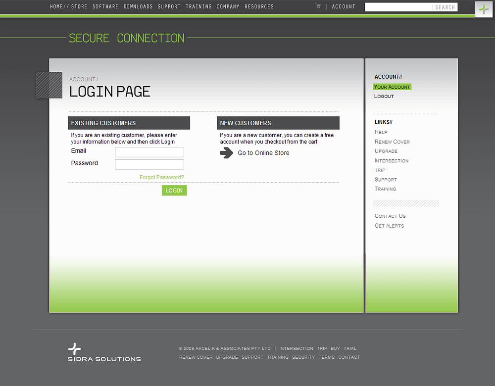 Sidra login page