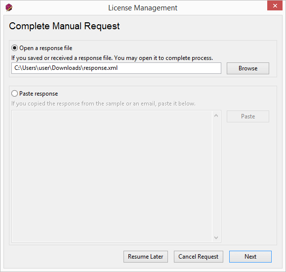 Manual Activation Request