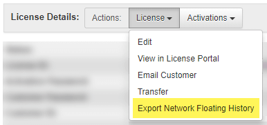 Export Network Floating history in SOLO Server